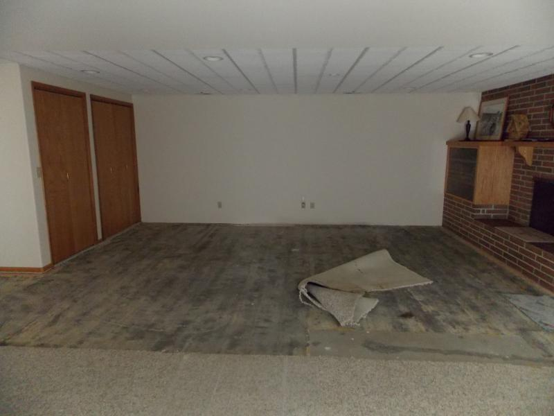 Repaired drywall/removed carpet
